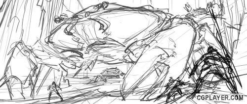 手绘教程 《人蟹大战》