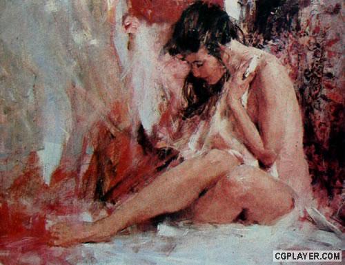 美国画家 理查 司契米德 画人体 构图的原理