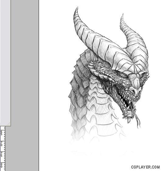 龙的插画过程图片